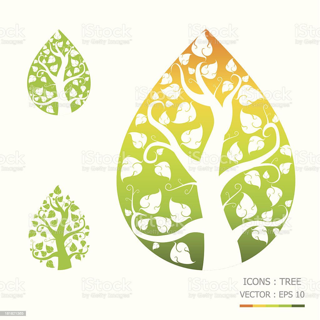 Icons Trees royalty-free stock vector art