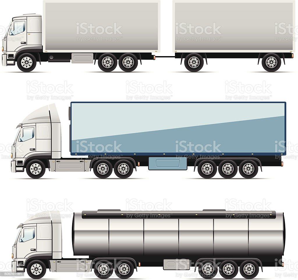 icons trucks vector art illustration