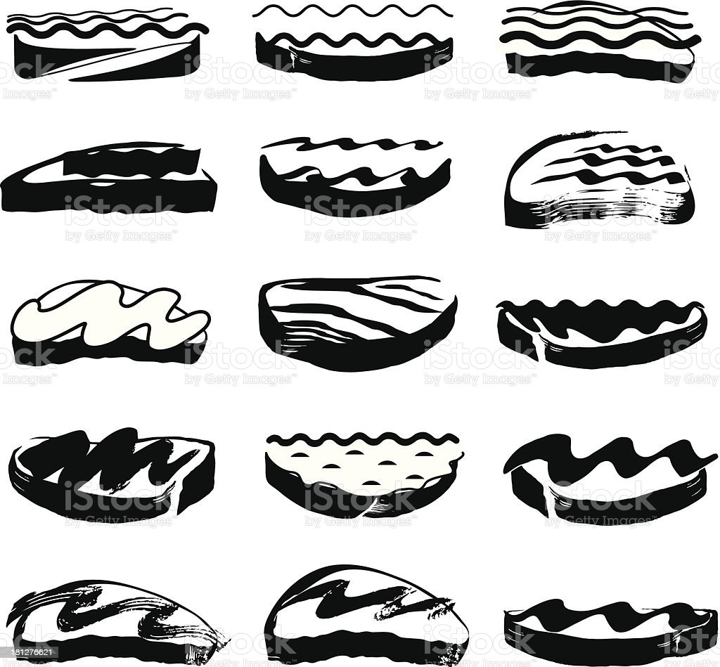 Icons Vector Food Sandwich royalty-free stock vector art
