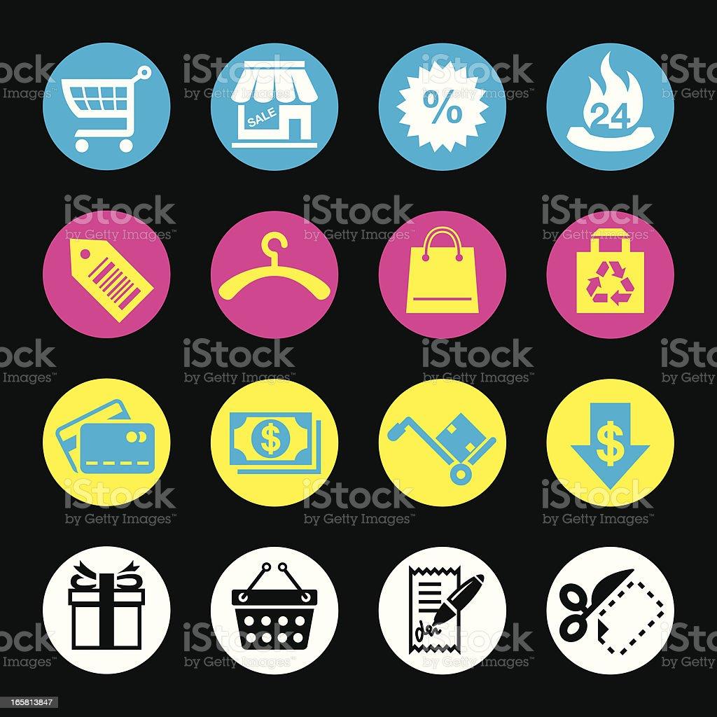 CMYK Icons (Shopping & Consumerism) royalty-free stock vector art