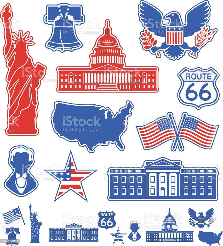 USA Icons royalty-free stock vector art