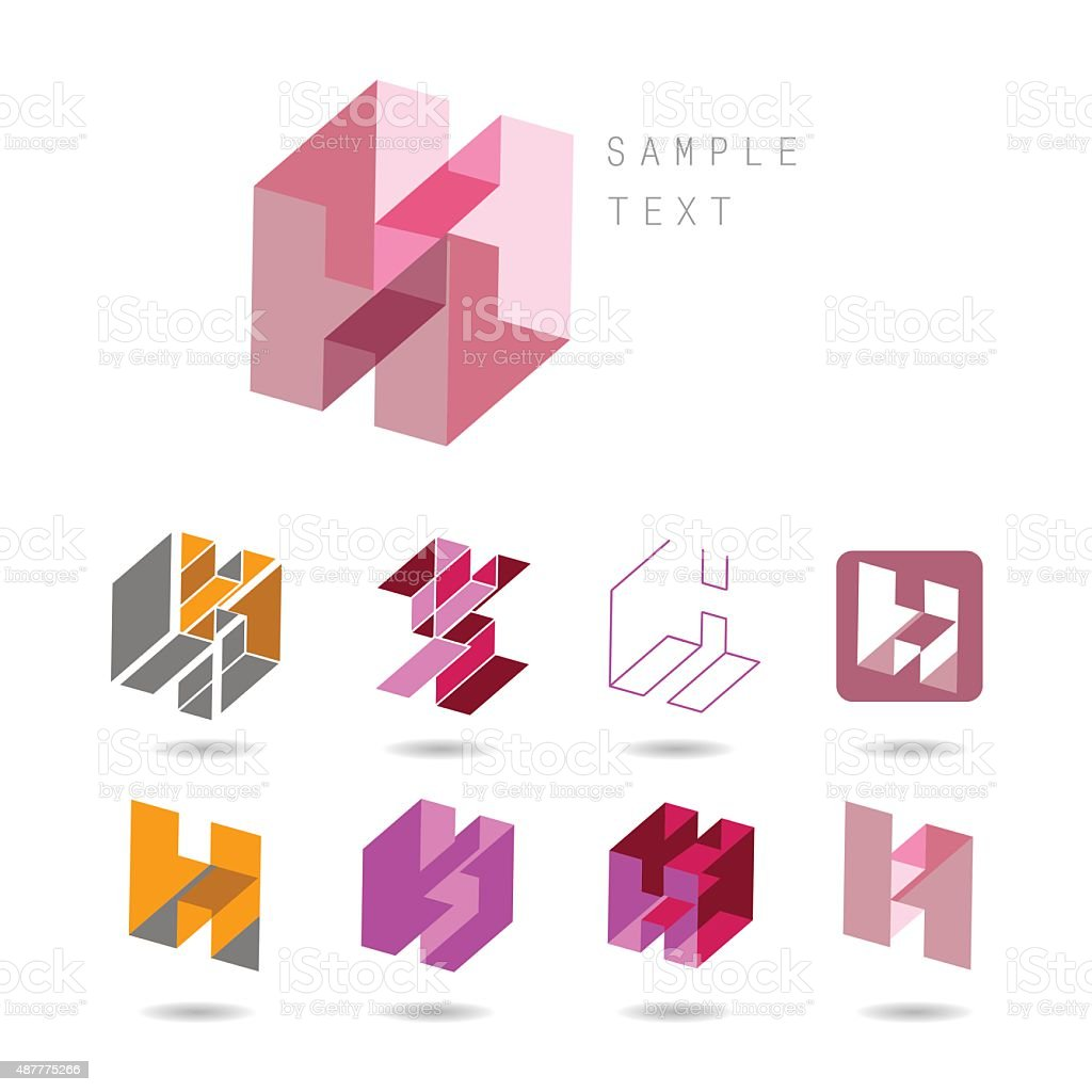 H icons vector art illustration