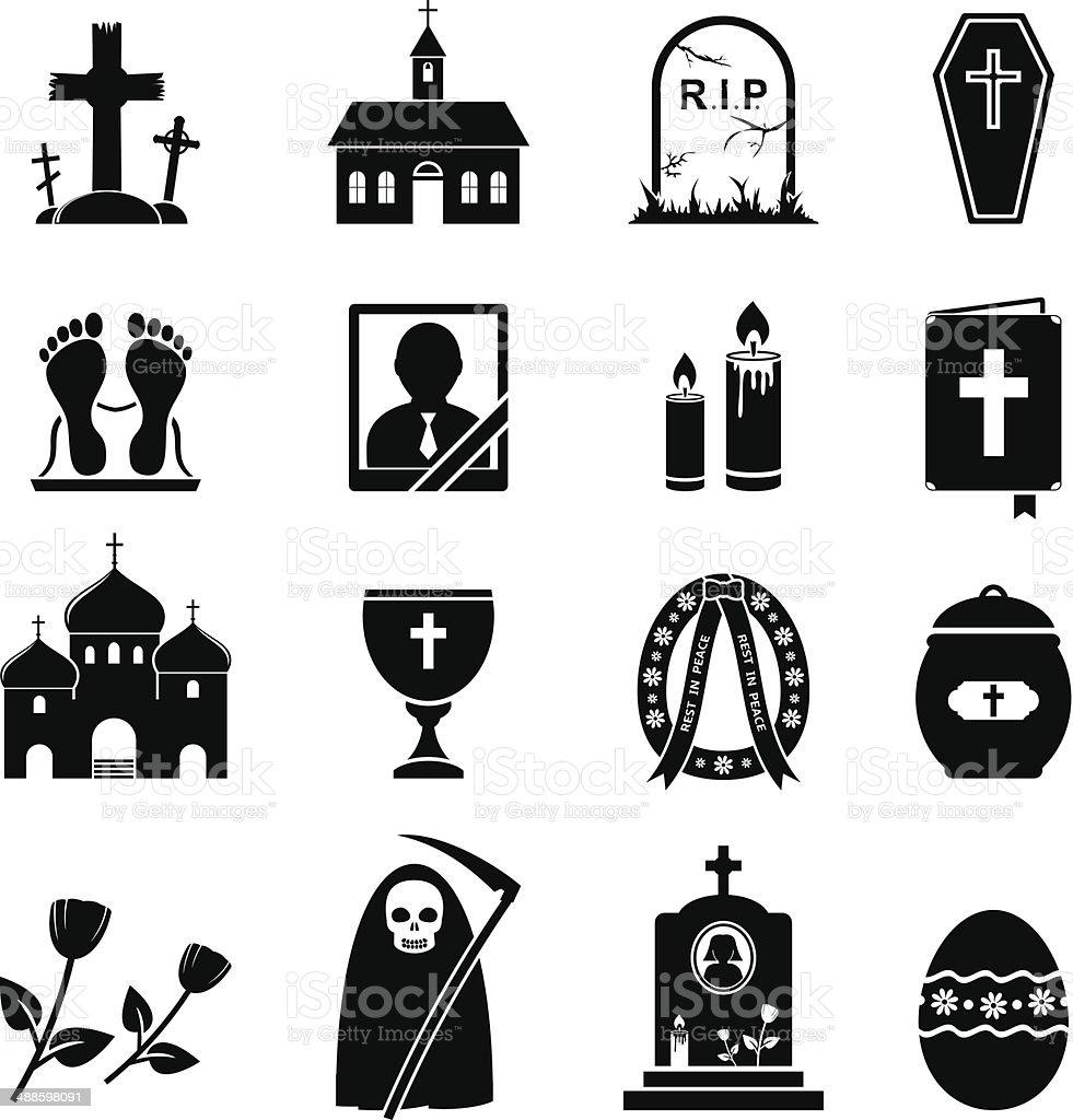 RIP icons vector art illustration