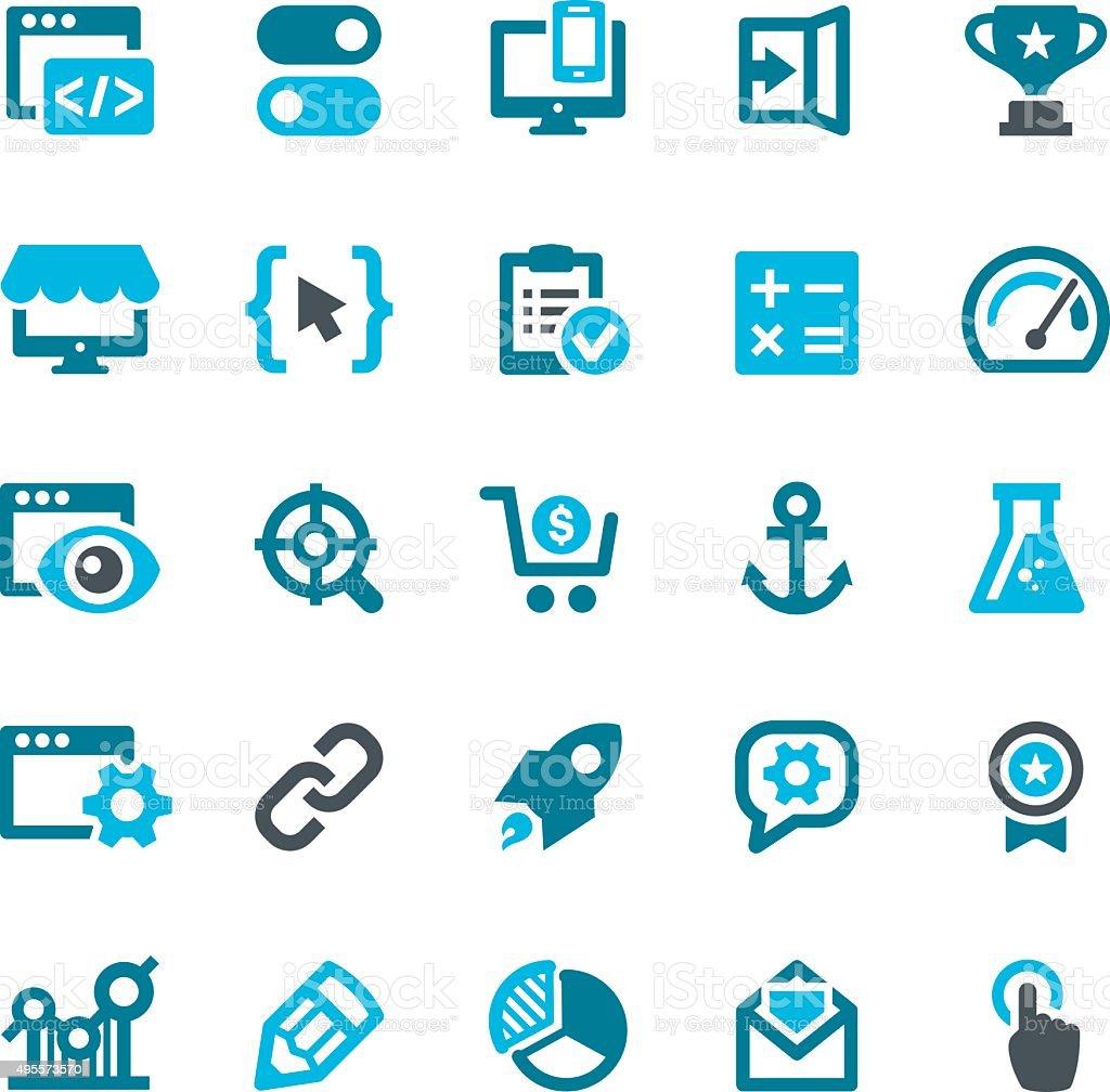 SEO Icons vector art illustration
