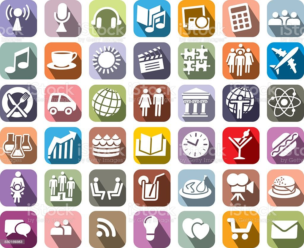 Icons vector art illustration