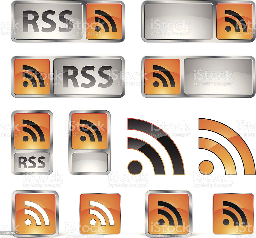 RSS icons royalty-free stock vector art