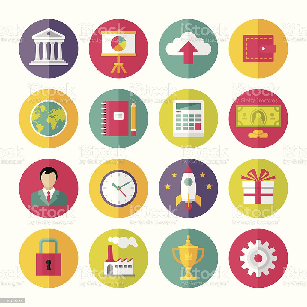 Icons Vector Set in Flat Design Style - 02 vector art illustration