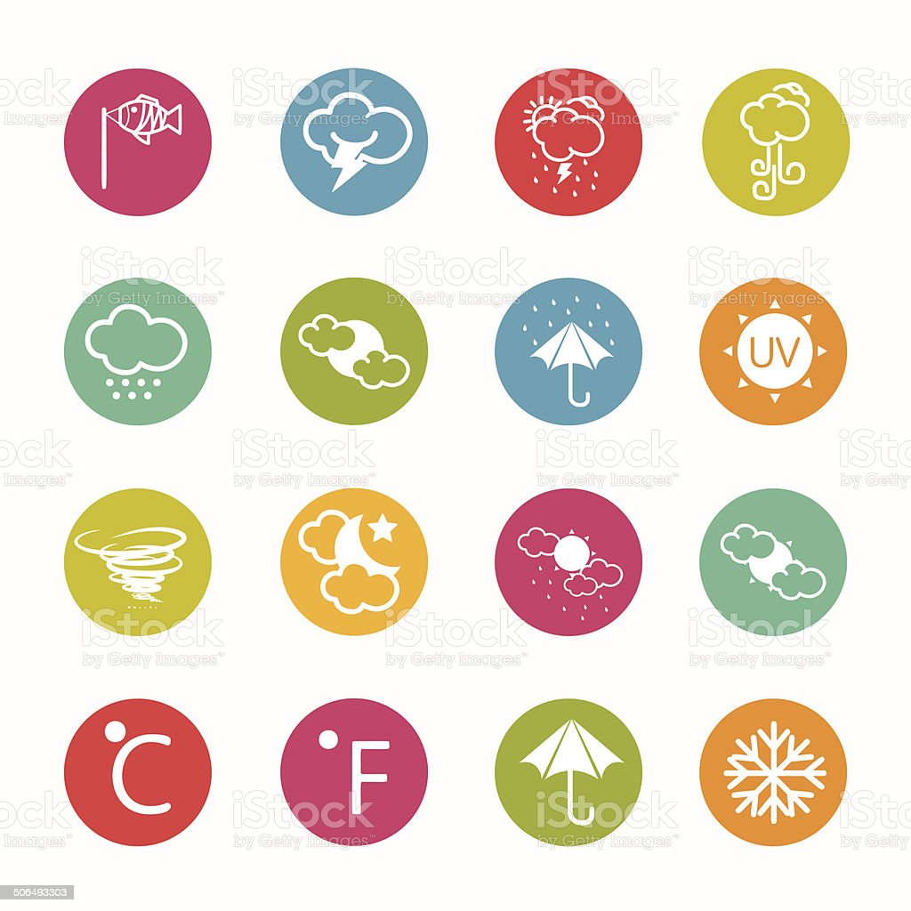 icons weather  Circle Series - eps.10 royalty-free stock vector art