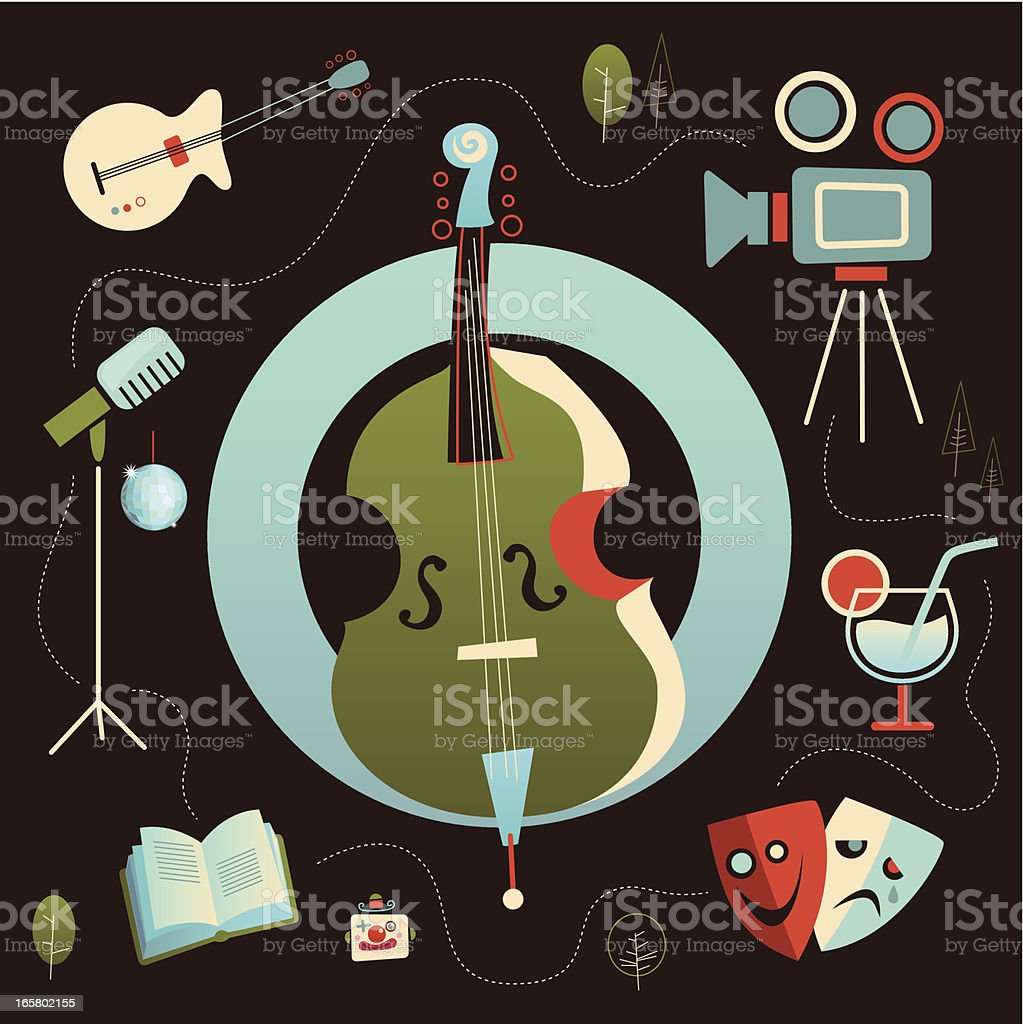 icon-set culture and art royalty-free stock vector art