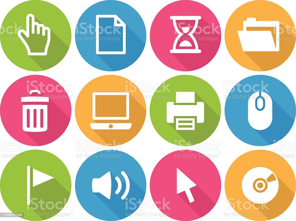 Iconset - flat - Computer 01 vector art illustration