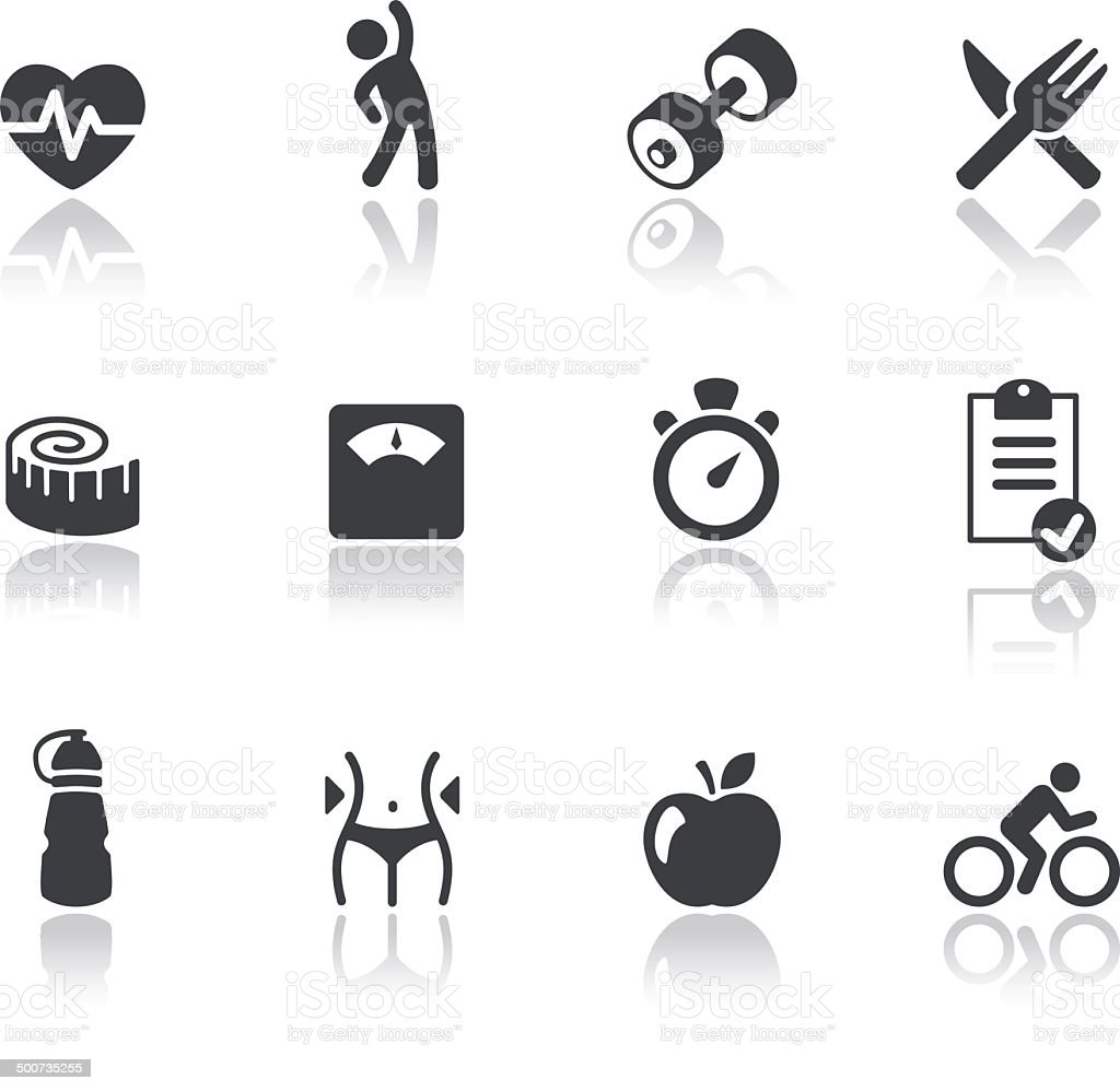 Iconset - Reflection - Fitness 01 vector art illustration