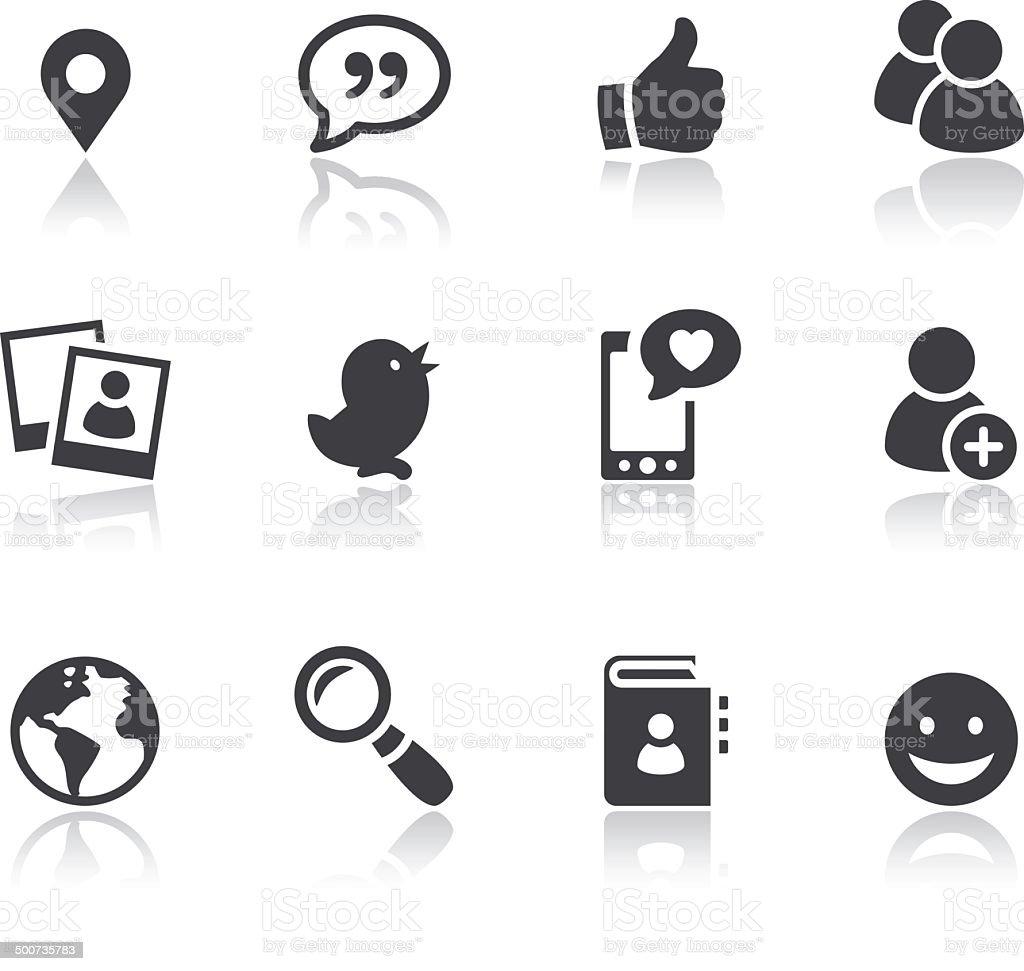 Iconset - Reflection - Social Media 01 vector art illustration