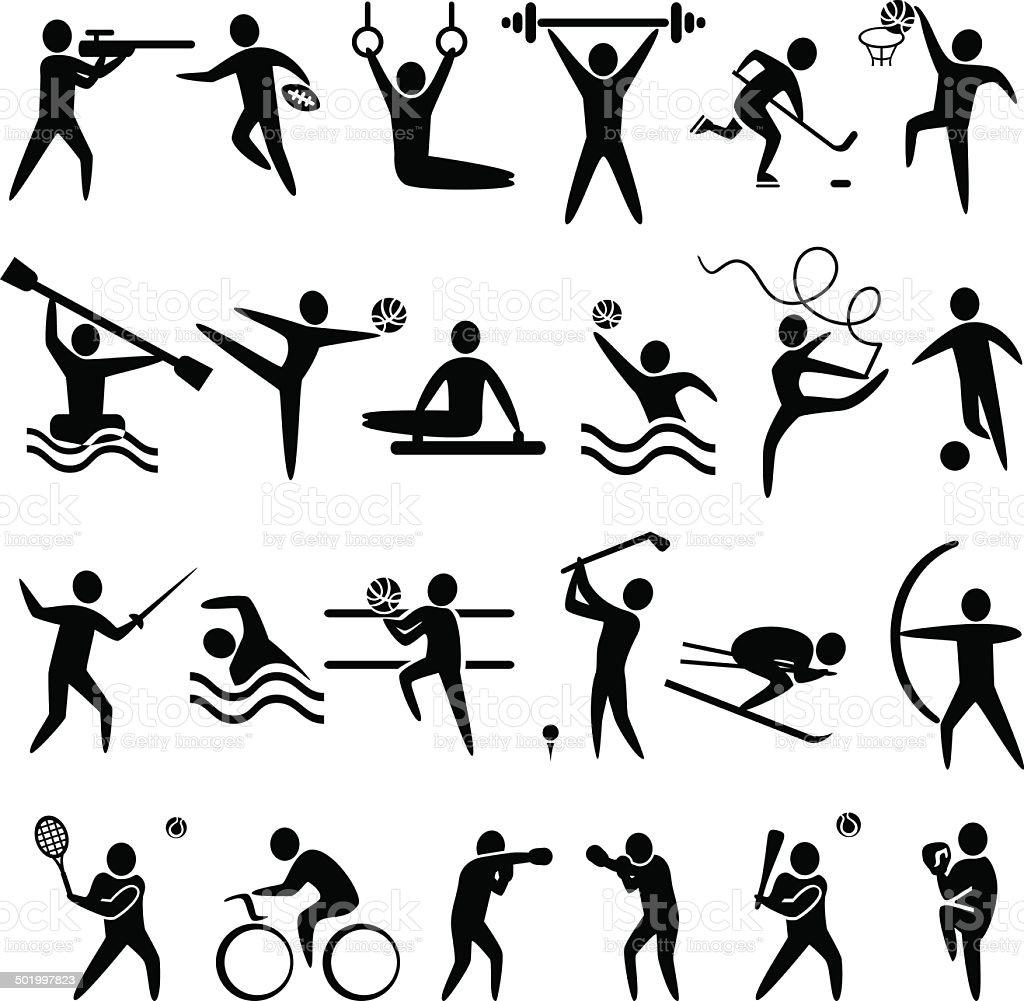 IconsSportBl vector art illustration
