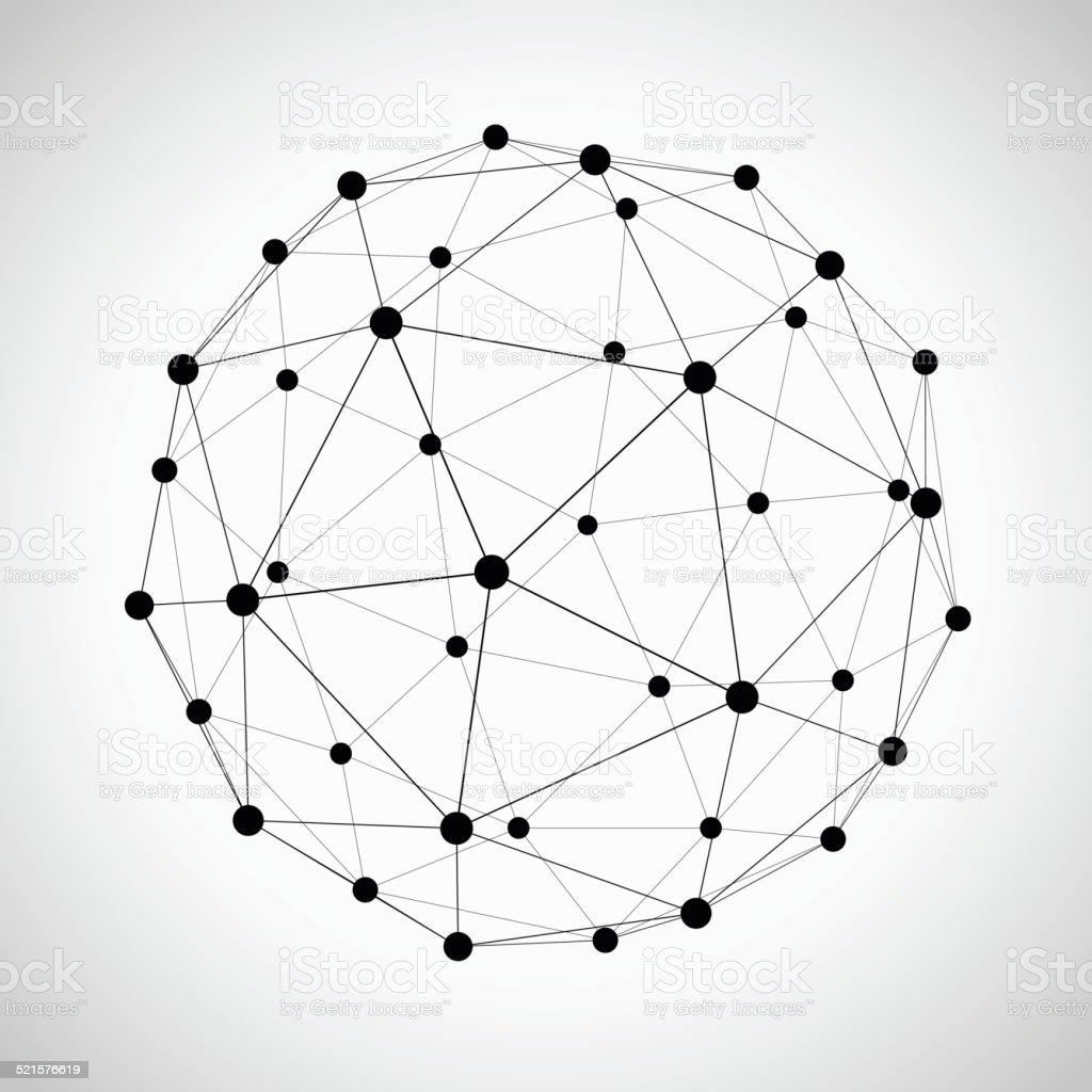 Icosahedron vector art illustration