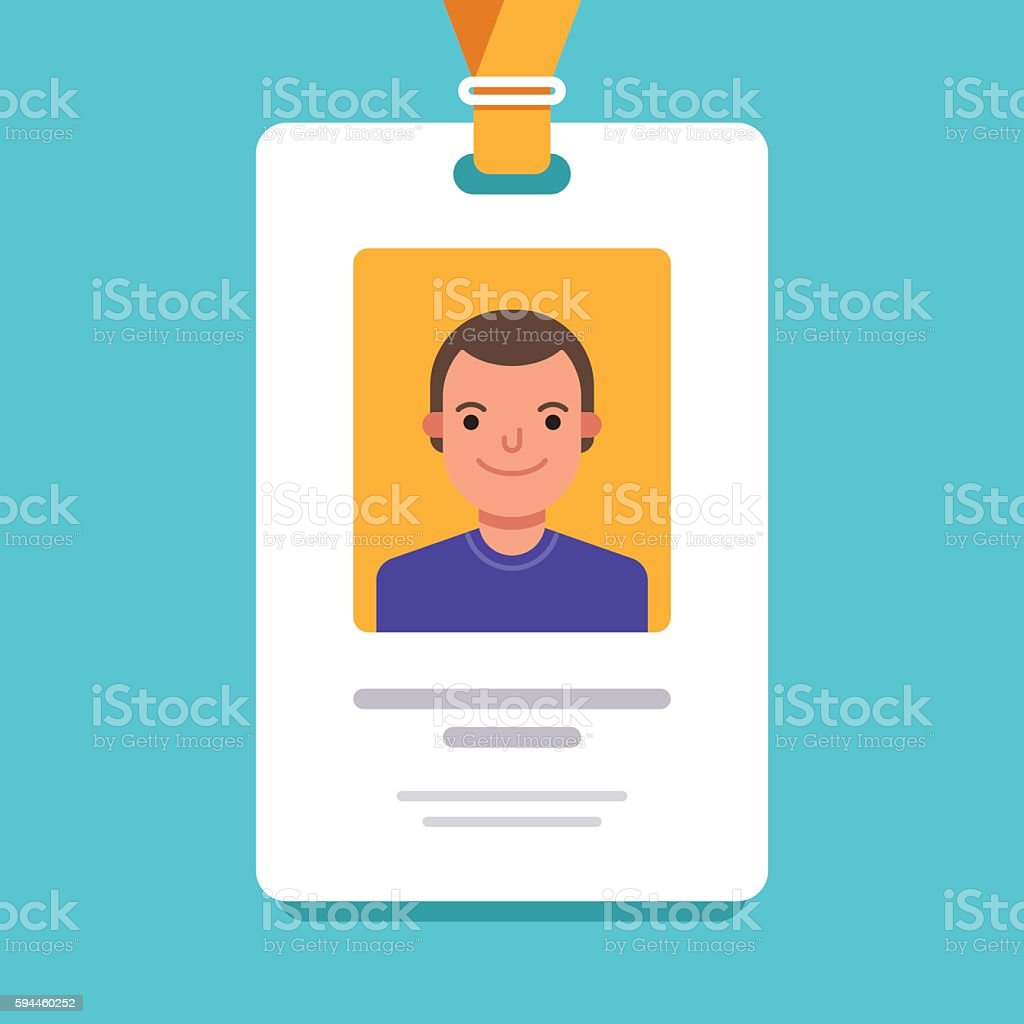 Id card for businessman. Business conference concept vector art illustration