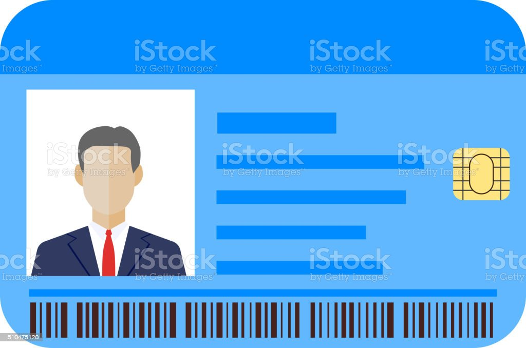 Id cards template with man vector art illustration