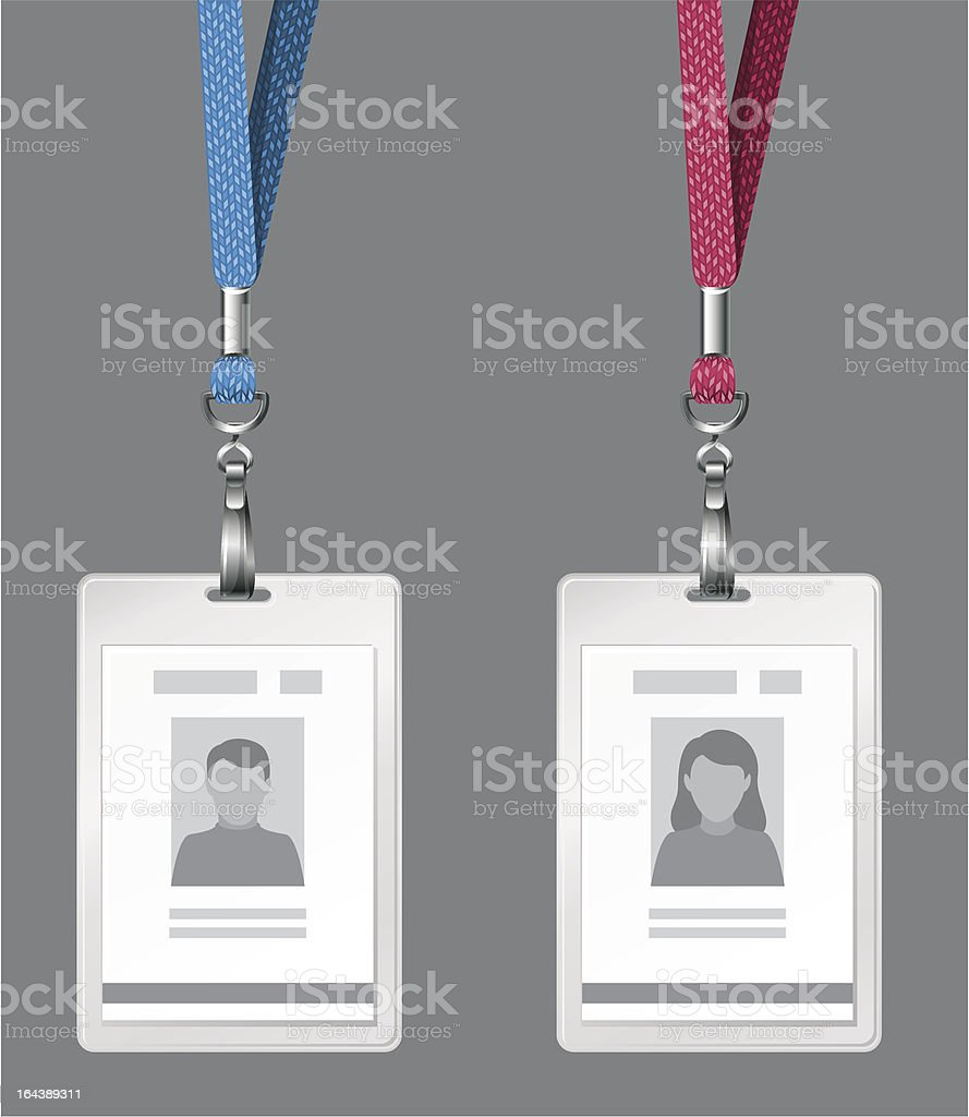 id cards royalty-free stock vector art
