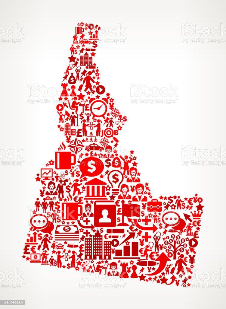 Idaho Finance and Businesswoman royalty free vector art Background vector art illustration