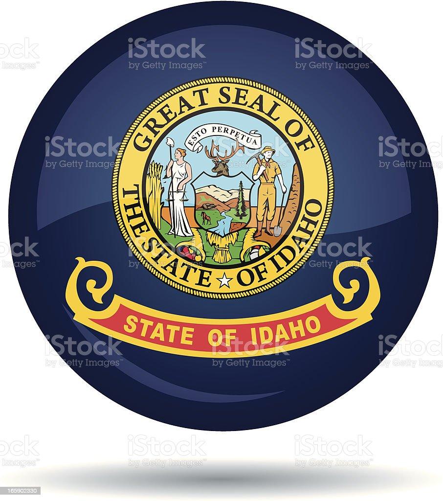 Idaho flag royalty-free stock vector art