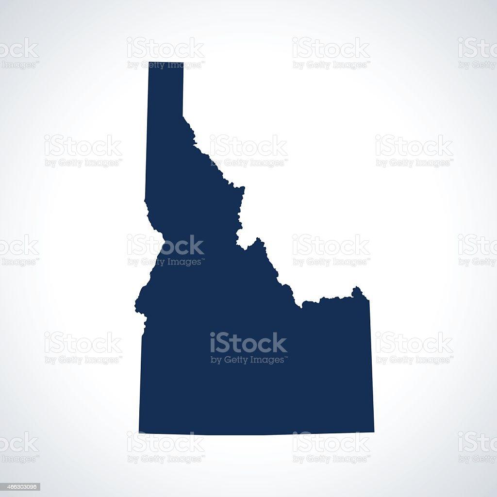 Idaho map vector art illustration
