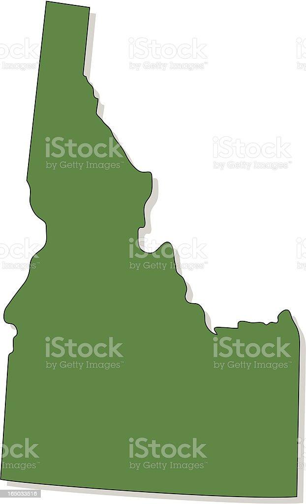 Idaho vector art illustration