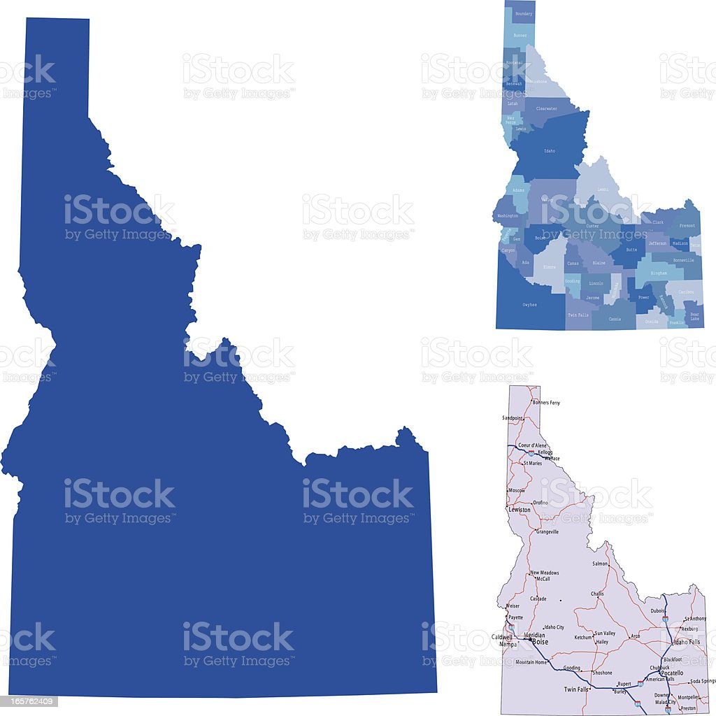 Idaho royalty-free stock vector art