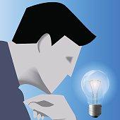 Idea born business concept
