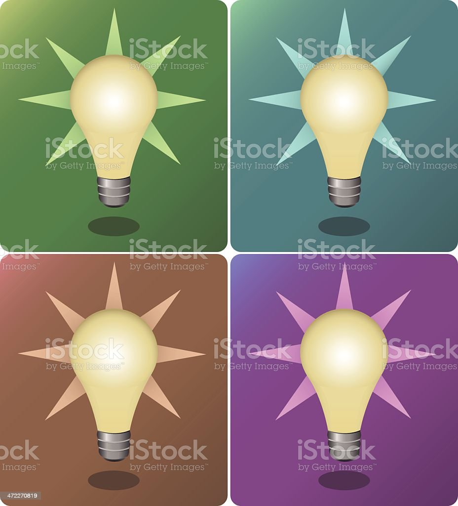 Idea Bulbs [vector] royalty-free stock vector art