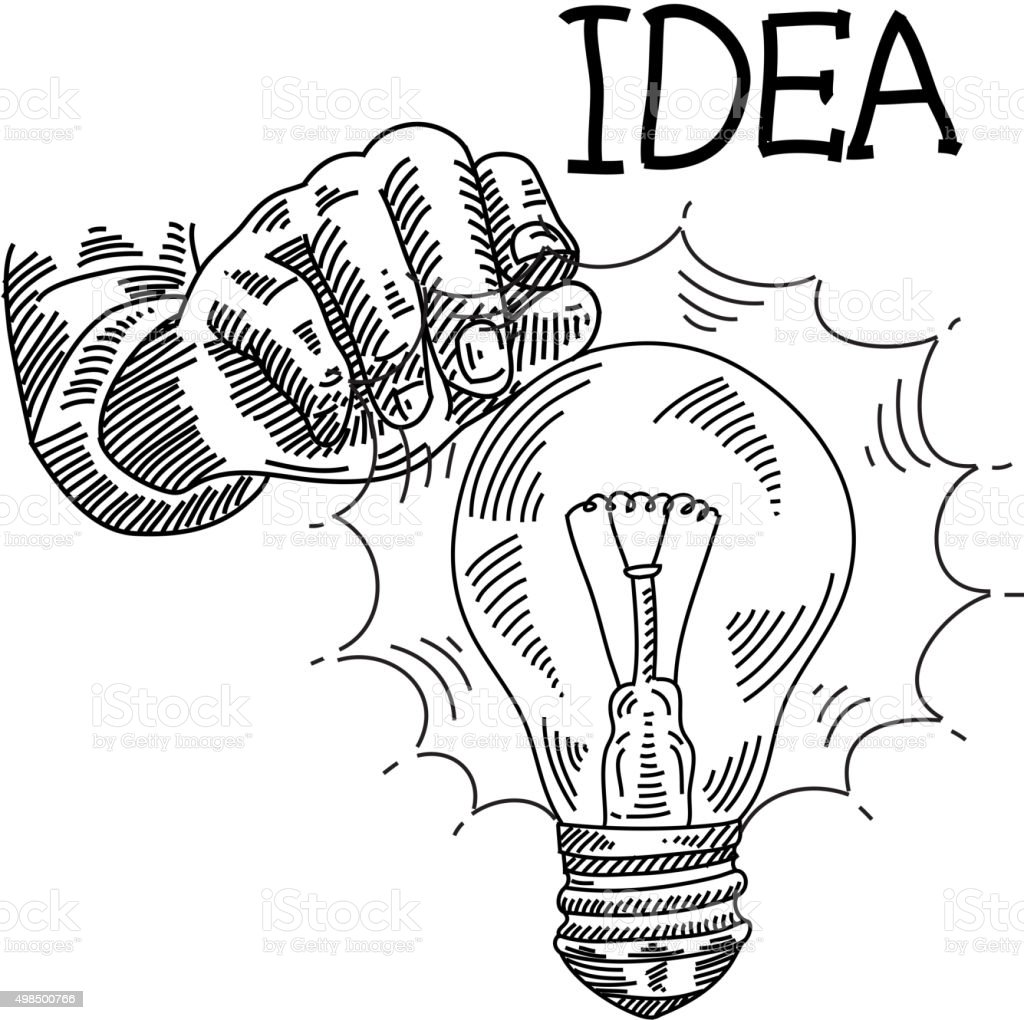 Idea Concept Drawing vector art illustration