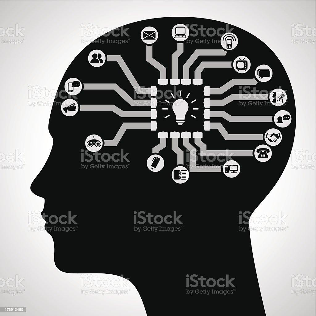 Idea concept royalty-free stock vector art