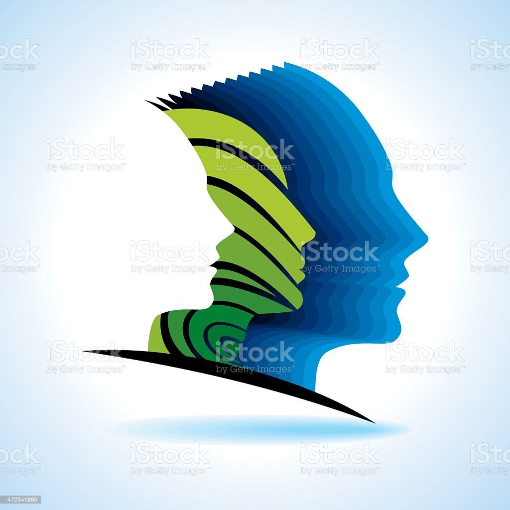 idea concept with human head royalty-free stock vector art