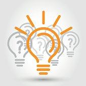 idea illustration with bulbs