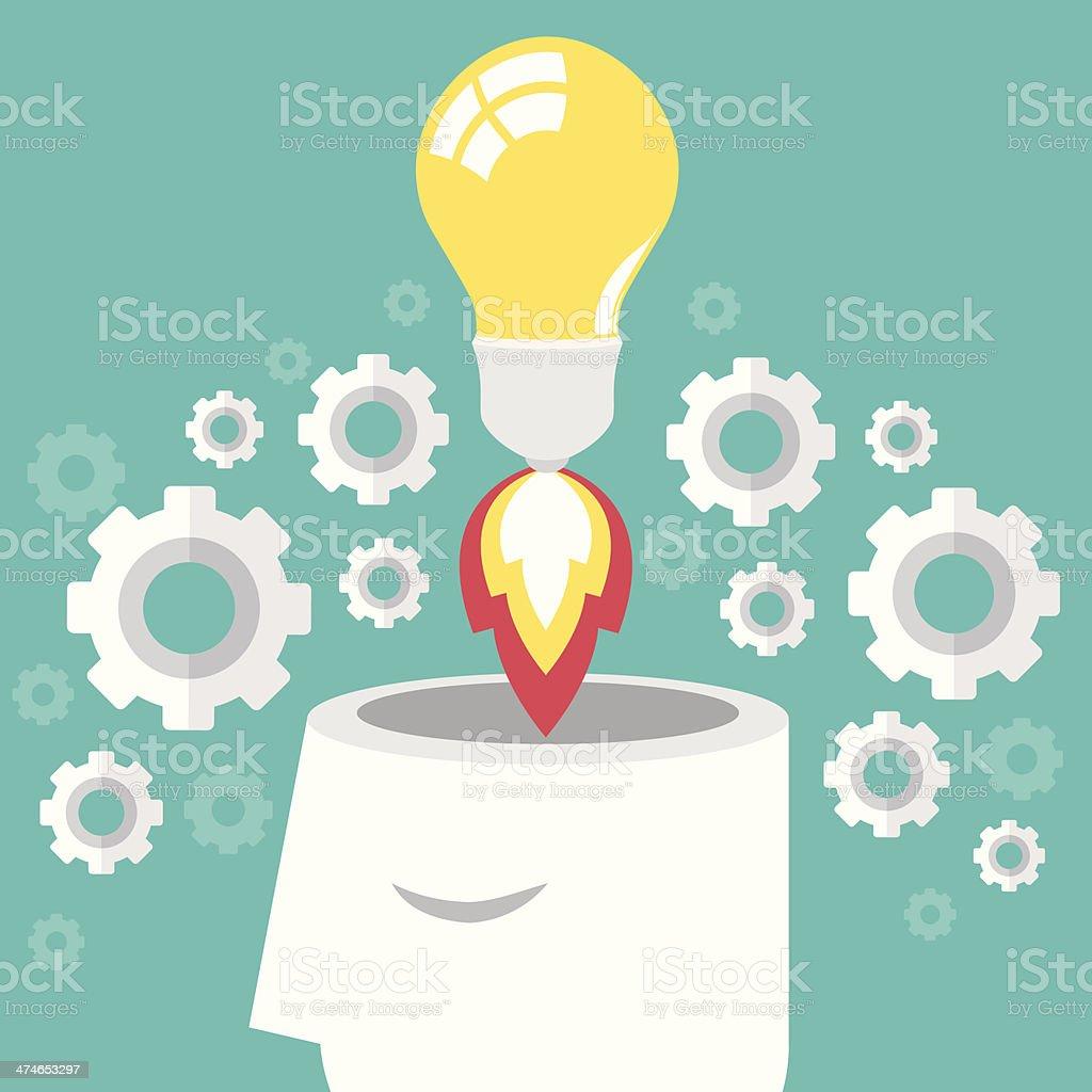 idea launch royalty-free stock vector art