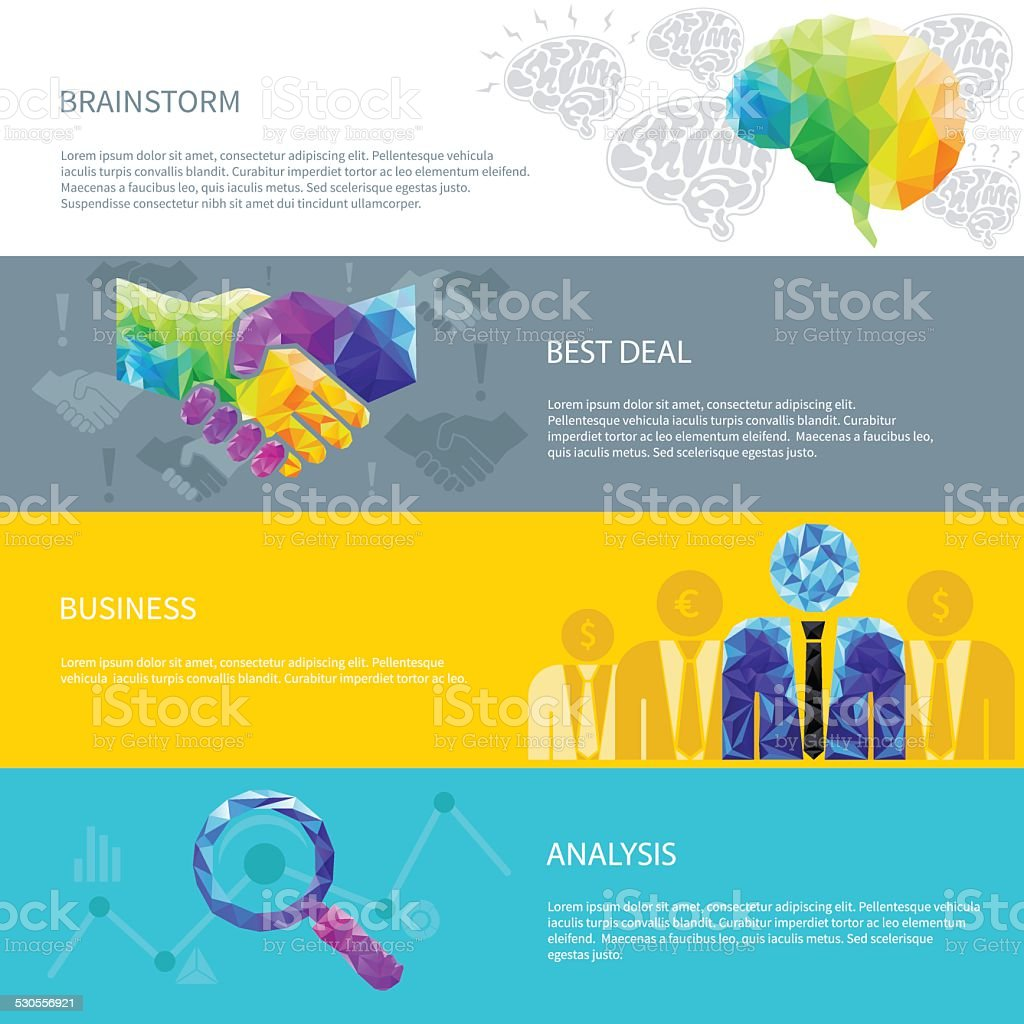 idea light bulb, human brain, handshake, deal, success, cup vector art illustration