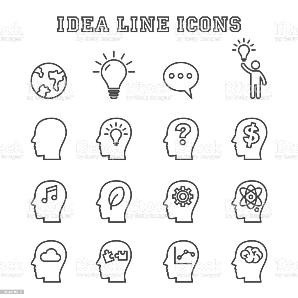 idea line icons vector art illustration