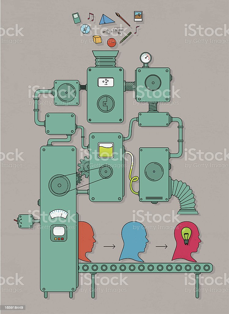 Idea machine vector art illustration