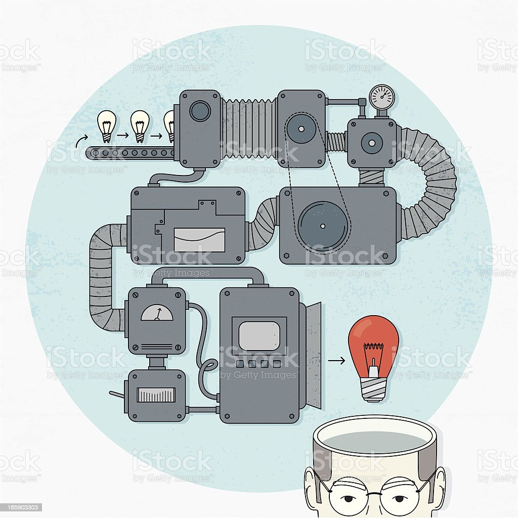 Idea maker vector art illustration