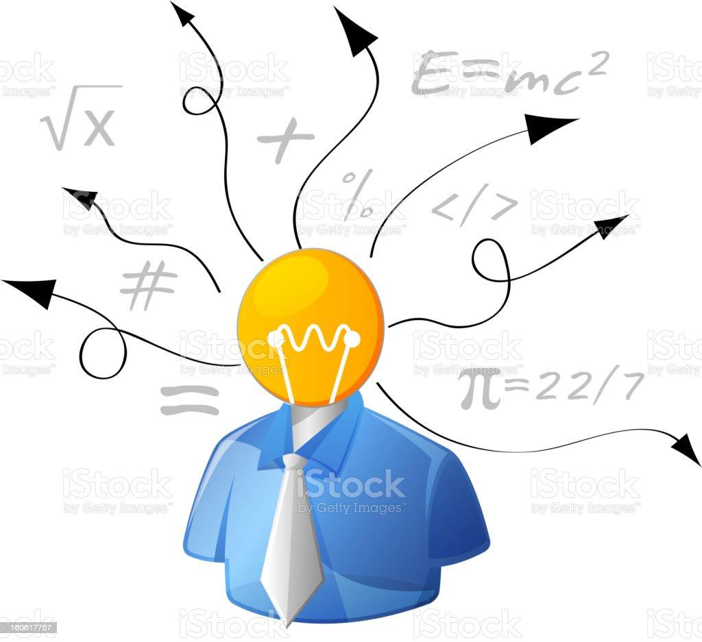Idea Man royalty-free stock vector art