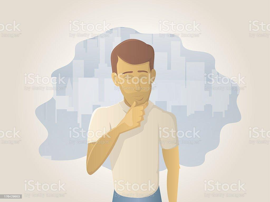 Idea Man vector art illustration