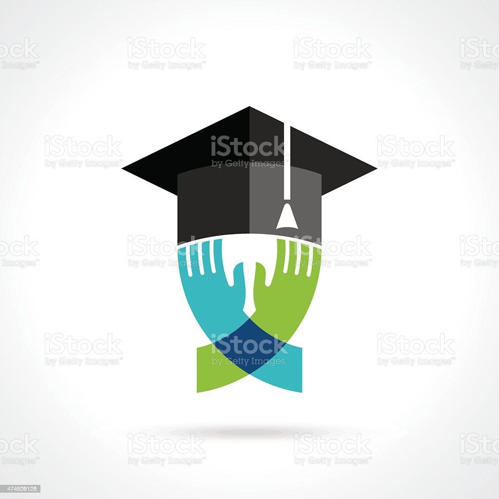 idea of education symbol vector art illustration