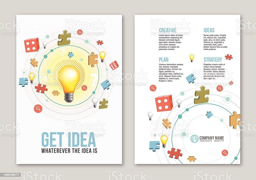 Idea print design vector art illustration