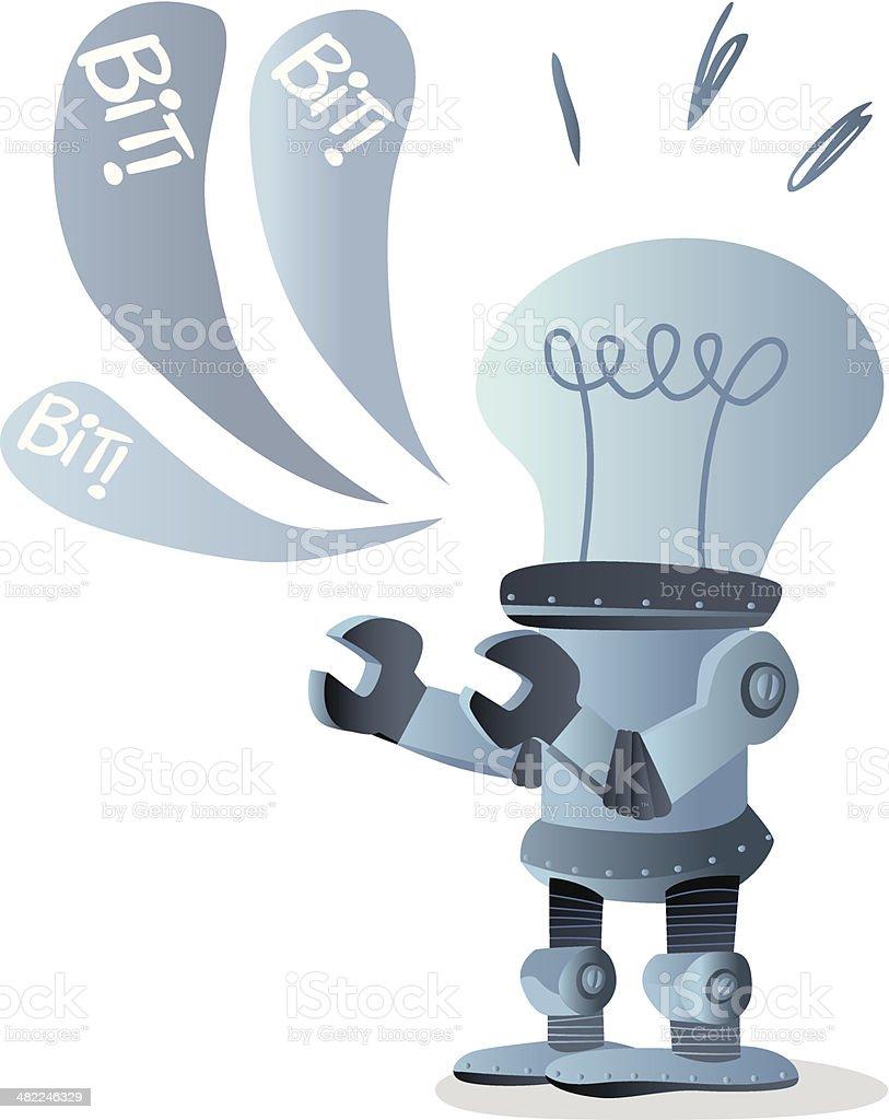 BIT - Idea Robot royalty-free stock vector art