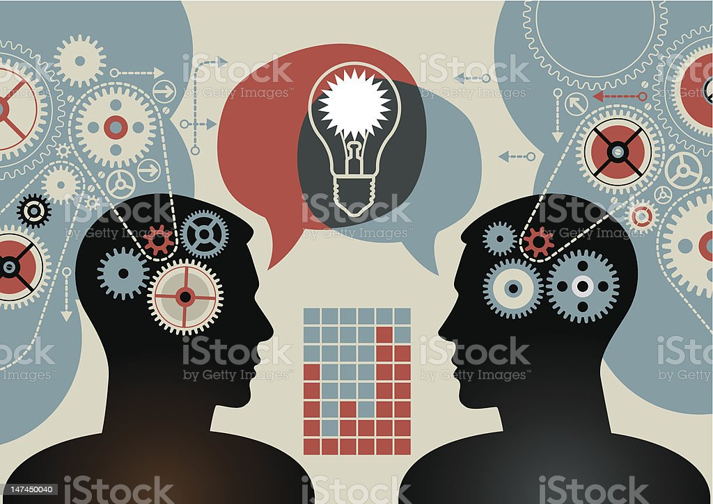 Idea teamwork royalty-free stock vector art