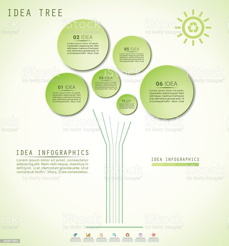 Idea Tree Infographics vector art illustration