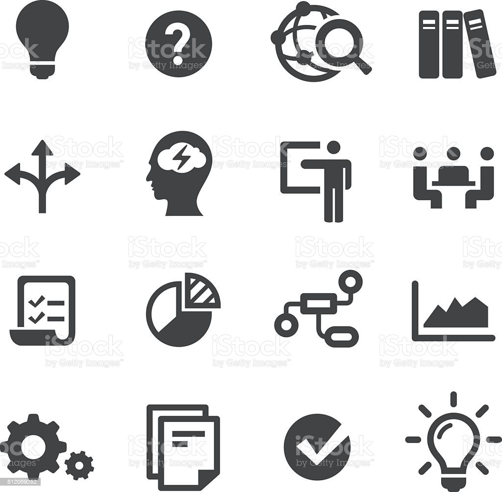 Idea Workflow Icons - Acme Series vector art illustration