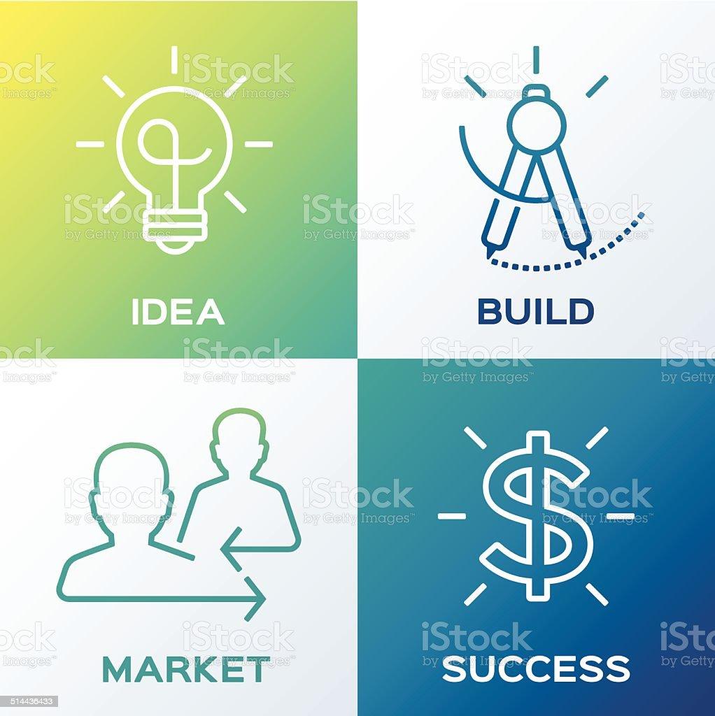 Ideas and Creativity Concept vector art illustration