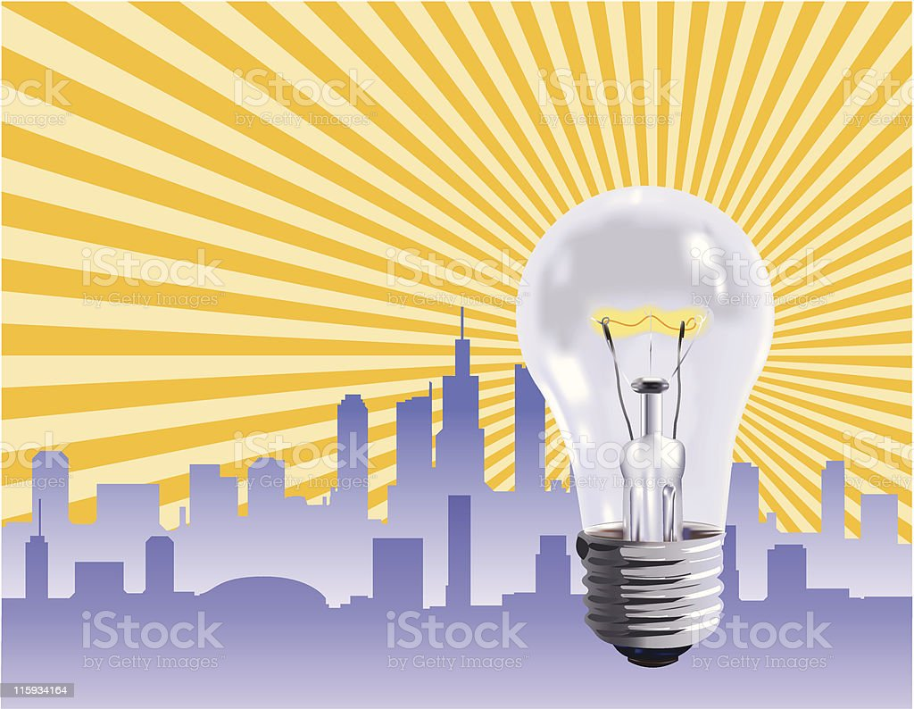 Ideas at Work royalty-free stock vector art