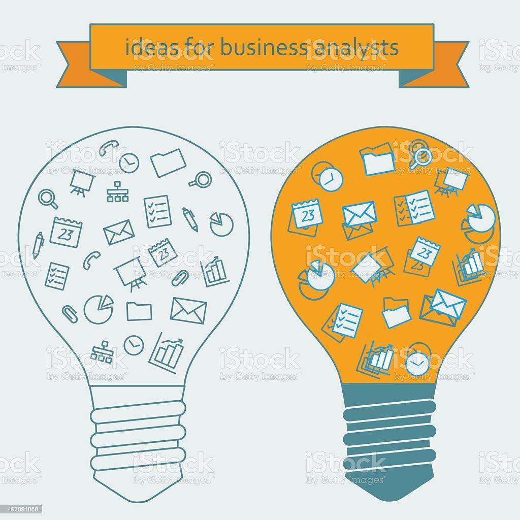 Idées pour les voyageurs d'affaires tels que les analystes stock vecteur libres de droits libre de droits