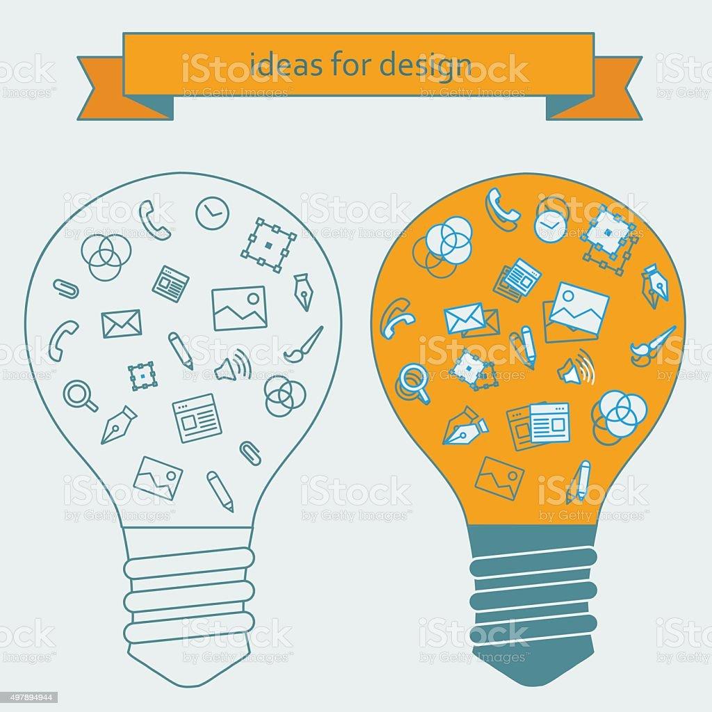 Idées pour les designers stock vecteur libres de droits libre de droits