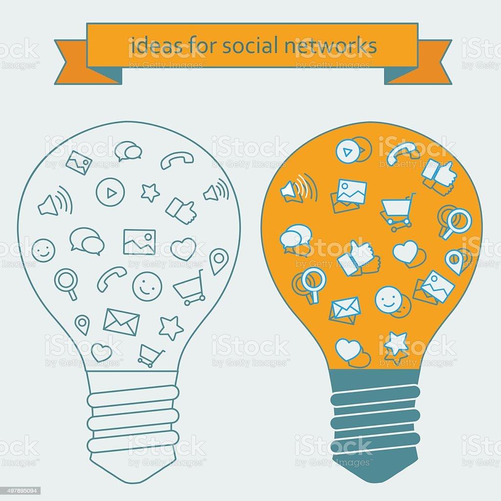 Idées pour les gestionnaires de réseaux sociaux stock vecteur libres de droits libre de droits